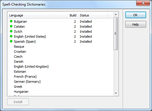 Spell-checking Dictionaries